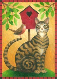 """Cat and Birdhouse,"" Stephanie Stouffer"