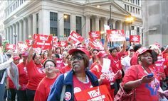 Chicago Teachers Union marched to defend public education
