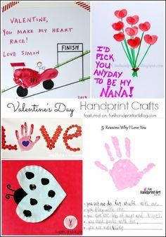 10 Valentine's Day Handprint Crafts