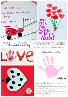 10 Valentine's Day Handprint Crafts