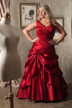Long Sleeve Wedding Dresses Red Bridal Gown Appliques Elegant Off