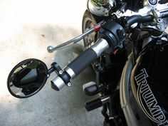 Cafe Racer Tank Decals | Cafe Racer Clubman Handlebars Bar End Mirrors Black | eBay