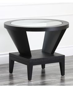 Look what I found on #zulily! Espresso & Glass Morgan Round End Table #zulilyfinds