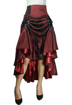 burgundy steampunk | burgundy three way lace up victorian steampunk skirt $ 49 95 buy at ...