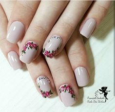 healthy snacks for preschoolers to take to school kids videos kids Rose Nail Art, Rose Nails, Flower Nails, Nail Art Modele, Hair And Nails, My Nails, Foto Art, Gel Nail Designs, Simple Nails