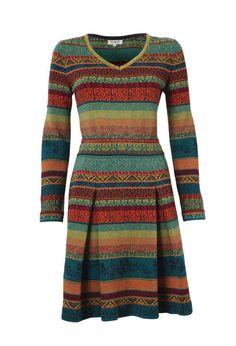 V-Neck Dress with Pleats - Kleid | Ivko Woman
