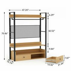 Gracie Oaks Baring W Closet System Closet Storage Systems, Closet System, Storage Spaces, Steel Furniture, Diy Furniture, Furniture Design, Furniture Cleaning, Hanging Rail, Hanging Storage