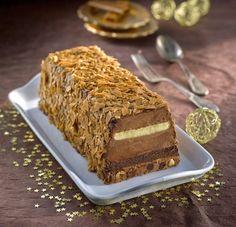 Recette Tiramisù Croustillant Chocolat façon Bûche : http://www.ilgustoitaliano.fr/recette/tiramisu-croustillant-chocolat-facon-buche