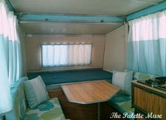 vintage camper remodel with tips you can use in your home, diy, home decor, reupholster, window treatments, Camper After