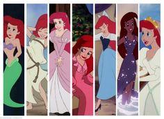 disney princess ariel the little mermaid outfits Disney Pixar, Walt Disney, Disney And Dreamworks, Disney Magic, Disney Art, Disney Movies, Disney Characters, Goth Disney, Princesa Ariel Disney