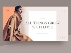 Fashion Lookbook  Header Layout by Hrvoje Grubisic #Design Popular #Dribbble #shots