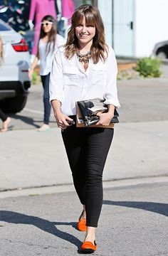 Sophia Bush looks great in this!  I especially love the shoes and her hair is amazing!
