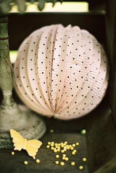 pink polka dot wedding decor, darling! http://www.weddingchicks.com/2013/09/12/rustic-after-the-wedding-shoot-ideas/