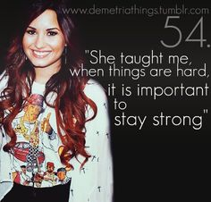Demi Lovato..   she was bullied, her parents are divorced (mother is remarried), and when she asked people why they were so mean they would call her fat. Yes, she developed an ED and would self-harm, but she had strength to stop a tour to get help. She has helped MILLIONS and has a great voice. and she is going through recovery and trying her very best to stay strong. everyone struggles, and she helped a ton of people. she went through a lot, and it was a way she dealt with it.