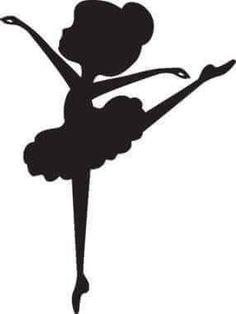 Resultado de imagen para silueta de bailarina para imprimir