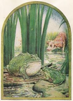 The Frog Who Wished To Be As Big As The Ox - Jean De La Fontaine Fables