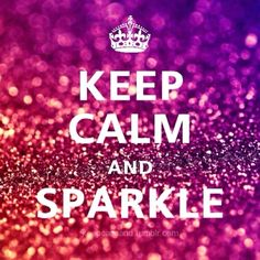 Day 46: Whenever your pissed off at someone, you take a deep breath, keep calm, blow sparkles and glitter at the person, and run.