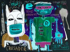 JEAN MICHEL BASQUIAT-Gotham at night