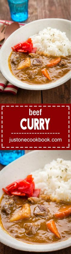 Japanese Beef Curry ビーフカレー – Made with beef, potatoes, carrots, mush… Easy Japanese Recipes, Japanese Dishes, Japanese Food, Japanese Meals, Curry Recipes, Beef Recipes, Cooking Recipes, Japanese Curry, Japanese Taste