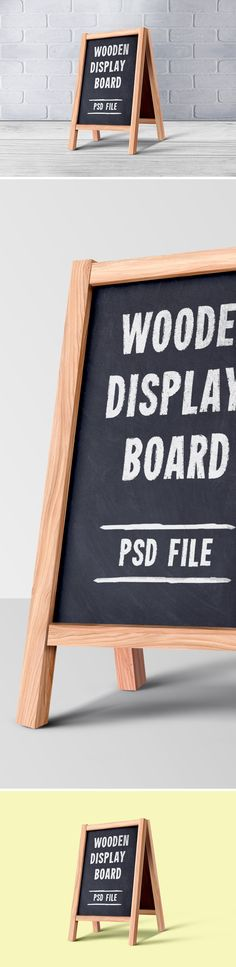 Wooden menu board PSD design to showcase your daily special food menu items for outdoor or indoor purpose. Highly useful for restaurant and hotel designs. Mockup, Menu Items, Design Projects, Letter Board, Boards, Photoshop, Branding, Display, Graphic Design