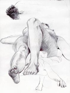Live model drawings by Laura Lannes, via Behance