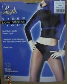 19c86d0135f1b Levante sheer low waist tights- Sheer Nero Size 2 Medium #fashion #clothing  #