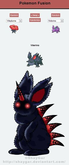 Pokemon Fusions - it's like the gremlins mixed with Monty Python and Death Scythe (yes that's a Soul Eater reference) and a touch of unicorn all doused in concentrated evil extract! Isn't it cute???
