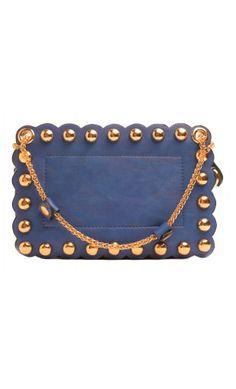 Stupenda borsa in morbida ecopelle con tracolla e borchie dorate ❤