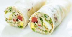 15 recettes a déguster sur la route des vacances - Wrap au thon, œuf dur et mayonnaise - Cuisine AZ