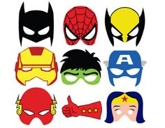 Superhero masks made in a day for the opening party of the SuperHeroes Amsterdam office. Feel free to use them or contact me to get the vector files.