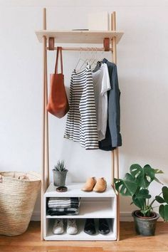 clothing rack -- perfect for a guest room!