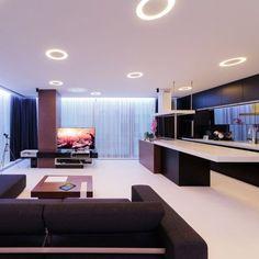 Um apartamento futurista com um conceito bastante minimalista. A subdivisão dos ambientes deixa mais espaço entre eles sem tirar sua ligação. Gostaram? #inspiracaoversato