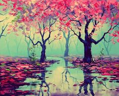 I <3 all the colors and the reflection of the water!