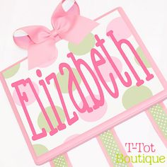 Love these personalized bow holders!