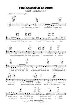 The Sound Of Silence by Simon & Garfunkel Ukulele Digital Sheet Music - Gitarre und Klavier - Viola Sheet Music, Free Violin Sheet Music, Trumpet Sheet Music, Easy Sheet Music, Saxophone Sheet Music, Easy Piano Sheet Music, Violin Music, Digital Sheet Music, Keyboard Noten