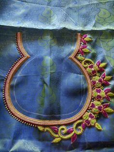 Hand Work Design, Hand Work Blouse Design, Simple Blouse Designs, Peacock Embroidery Designs, Wedding Saree Blouse Designs, Maggam Work Designs, Designer Blouse Patterns, Tambour Embroidery, Hand Embroidery