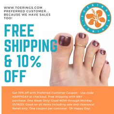 10% Off & Free Shipping Plumeria Flowers, Toe Rings, Free Gifts, Pink And Gold, Free Shipping, This Or That Questions, Promotional Giveaways
