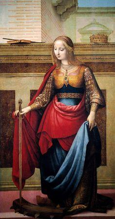 Fernando Yáñez DE LA ALMEDINA Saint Catherine of Alexandria (1505 - 1510)