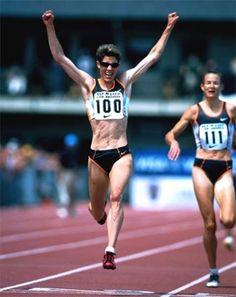 Marla Runyan was legally blind, but won medals in the Paralympics, Pentathlon, Marathon and Heptathlon.