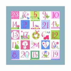 Servilleta decorada Calendario de adviento