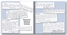 Baby Book Ideas |messages inside baby shower cards
