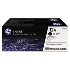 Q2612AD (HP 12A) Toner 2 000 Page-Yield 2/Box Black by HP. $147.01. Q2612AD (HP 12A) Toner 2 000 Page-Yield 2/Box BlackConsistently sharp text and smooth grayscale transitions. Reliable cartridge keeps on working so you can too. UltraPrecise dual-polymer toner and helical roller drive work together in a system to provide reliable***This item is expected to deliver in 4-10 business days. Tracking information is usually sent within 3-5 business days from the date of ...