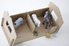 time of the aquarius: cardboard stables ( made from a shoebox)