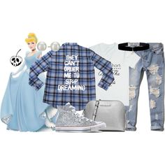 """Cake x DB's """"Dreaming"""" Flannel by leslieakay on Polyvore featuring Abercrombie & Fitch, Converse, MICHAEL Michael Kors, Kenneth Jay Lane, Monsoon, disney, cinderella, grunge, disneybound and disneycharacter"""
