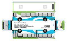Spokane Transit Authority paper model bus by R. Flores. DIY paper craft