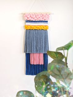 Medium woven wall hanging by Rhainforrest weaves Large Tapestries, Weaving Projects, Woven Wall Hanging, Tapestry Weaving, Wall Hangings, Loom, Weave, Hand Weaving, Fiber