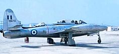 A Greek Air Force Republic Thunderjet. Hellenic Air Force, United States Army, Military History, World War Two, Wwii, Fighter Jets, Aviation, Aircraft, Airplanes