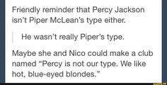 PercyJackson, NicoDiangelo, PiperMcLean, JasonGrace, tumblr