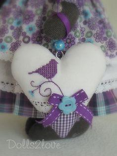 Tilda style mice couple Lizzy & Luc от Dolls2love на Etsy