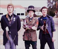 Panic! At The Disco <<< I just dramaticly fell in love with them. How or why I don't know xD BUT I LOVE THEM!!!!!